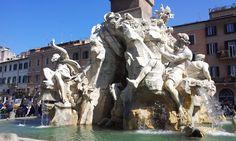 fontana dei quattro fiumi 1648-1651, Piazza Navona