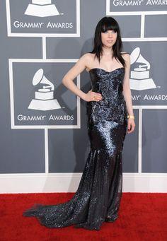 Carly Rae Jepsen en los Premios Grammy 2013 #cantantes #singers #people #celebrities