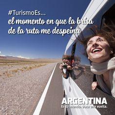 #Turismoes... El momento en que la brisa de la ruta me despeina  #DiaMundialDelTurismo #Argentina #WTD2015 #ArgentinaEsTuMundo Date una vuelta! Stained Glass Windows, Tourism, Buenos Aires Argentina