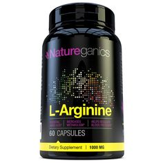 Natureganics 100% Pure L-Arginine - 1000mg Per Serving - Premium Amino Acid Formula for Pre-Workout - Supports Nitric Oxide Levels, Boosts Energy Levels and Endurance!