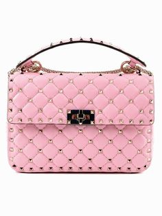 9bfd0c8d8f8e Extra 300 Off with Coupon Medium Rockstud Spike Pink Absolute Rose  Convertible Calfskin Leather Cross Body Bag