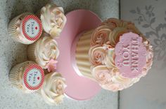 Giant Cupcake and cupcakes. Thank you presents for my son's Nursery Teachers.