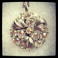 Vintage button wedding necklace by D. Wallace Designs.
