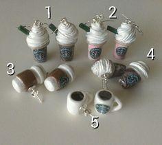 Assorted Starbucks Earrings van YannieCreations op Etsy, $5.00