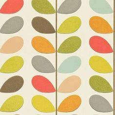 Orla Kiely designs a fresh contemporary wallpaper with a retro influence. 'Multi stem' is a simplistic leaf trail design. For similar smaller designs, click 'Wallpaper Revival' above to shop the colle. Harlequin Wallpaper, Print Wallpaper, Home Wallpaper, Wallpaper Roll, Playroom Wallpaper, Cottage Wallpaper, Kitchen Wallpaper, Wallpaper Desktop, Wallpaper Ideas