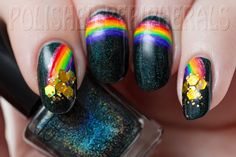 Lucky Rainbow Nails