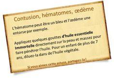 huiles essentielle immortelle hematome