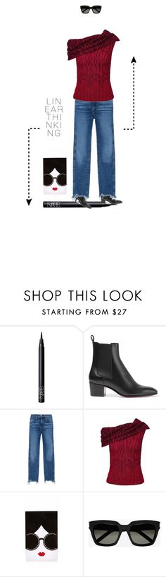 """chelsea boots"" by rasc2016 ❤ liked on Polyvore featuring NARS Cosmetics, Christian Louboutin, 3x1, Roland Mouret, Alice + Olivia and Yves Saint Laurent"