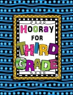 First week of school Third Grade activities - especially great for a 3rd Day of…