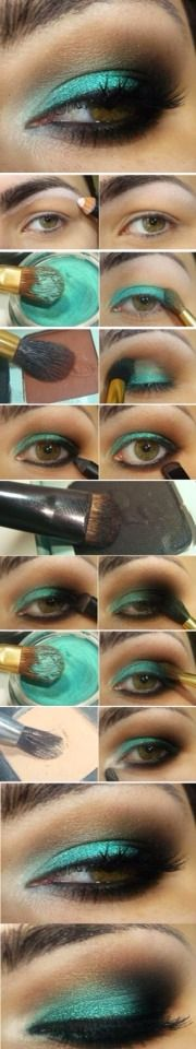 Emerald Étape par étape maquillage vert Tutorial! Gorgeous!
