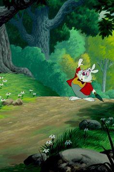 The White Rabbit - Alice in Wonderland Rabbit Wallpaper, More Wallpaper, Cartoon Wallpaper, Disney Magic, Disney Art, Walt Disney, Alice Rabbit, Wallpaper Iphone Disney, Iphone Wallpapers