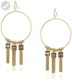 BCBGeneration Fringe Frontal Hoop Earrings - All about women (*Amazon Partner-Link)