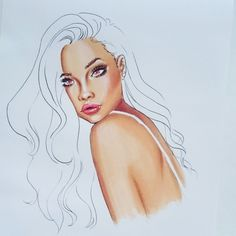 Tutorial: How to colour skin with 3 copic markers (fashion illustration) - YouTube