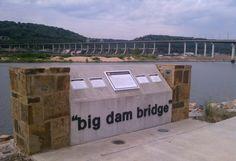 """Big Dam Bridge"" Longest pedestrian bridge in the US over the Arkansas River in Little Rock"