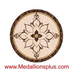 "Chloe, 48"" Waterjet Medallion - MedallionsPlus.com - Floor Medallions on Sale. Tile, Mosaic, & Stone Inlays."