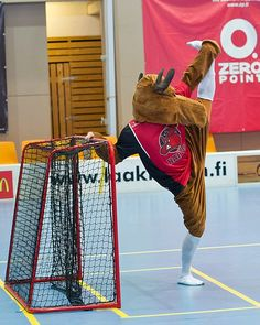 Happee Floorball team Mascot with Zero Points ;) Zero, Moose, Elk