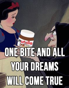Nutella FTW! | 17 Pictures Disney And Nutella Lovers Will Think Are Hilarious