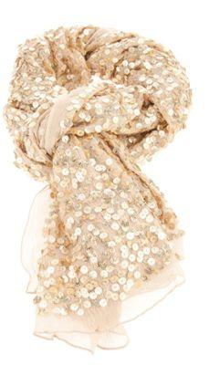 Glittery scarf.