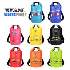 Forbidden Road Waterproof Dry Bag ( 8 Colors) Dry Sack Roll Top Dry Compression Sack Keeps Gear Dry for Kayaking Boating Camping Canoeing Fishing Skiing Snowboarding Kayak Boats, Kayak Camping, Kayak Fishing, Waterproof Phone Case, Waterproof Backpack, Kayaking, Canoeing, Inflatable Boat, Sack Bag