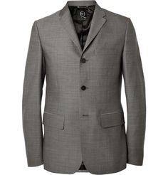 McQ Alexander McQueen | Grey Slim-Fit Wool Suit Jacket #mcqalexandermecqueen #suit #jacket