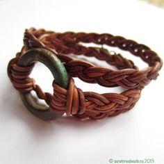 Beautiful easy triple wrap braided bracelet tutorial