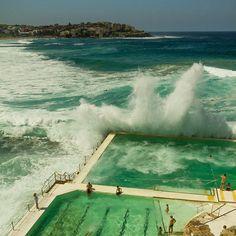 The swell and the heat is back - Bondi Beach, Sydney Australia. Places Around The World, The Places Youll Go, Places To See, Around The Worlds, Sydney Australia, Australia Travel, Australia Beach, Tasmania, Bondi Beach Sydney