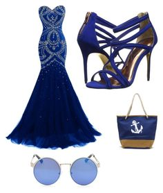 """Blue"" by albertrkrogstrup on Polyvore featuring Ted Baker"