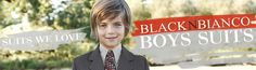 Black N Bianco Banner for Boys Gray Suit on sale