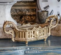 Antique French Jardiniere Fernery Planter by edithandevelyn