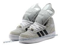 Adidas X Jeremy Scott Big Tongue Villi Shoes Khaki White 2013