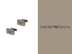 Exuding sophisticated Italian style, these stylish stainless steel lined cufflinks are embossed with the famous eagle logo. Perfect for a polished finishing touch to any man's look.  #Cufflinks #Armani #RomanceTime #MenFashion #Fashion #Trending #EmporioArmani