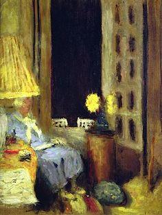 Edouard Vuillard, Woman Reading at Night - #ARTEmisiaLegge - @Libriamo Tutti