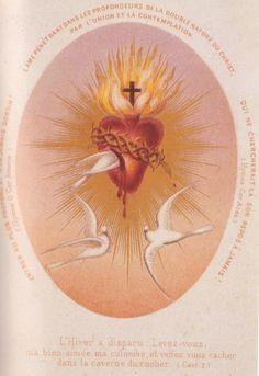 Estampa do Coração de Jesus que pertenceu a Santa Teresinha.