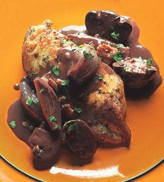 *** Quick Coq Au Vin from Bon Appetit. Considering the short cooking time, this dish has nice depth of flavor. Make sure you use a good quality wine.