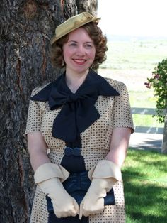 1930s Dress with Giant Removable Bow