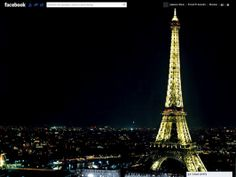 Facebook Themes: Paris at Night | Funner Apps