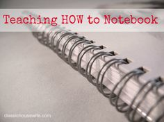 Teaching how to notebook.