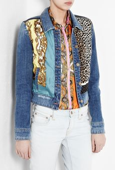 D G Scarf Panel Denim Jacket by D G by my wardrobe com on HavetoHave.com