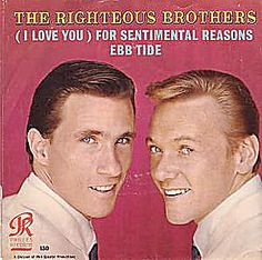 Righteous Brothers SENTIMENTAL REASONS 45 rpm Picture Sleeve ONLY