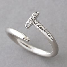 Sterling Silver Nail Wrap Ring from Kellinsilver.com – white gold nail ring, nail ring jewelry, sterling silver nail ring