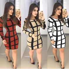 Qual escolher ? Amei todos 😍😍😍👏 . . Sigam @modaevangelica222  Sigam @modaevangelica222  Sigam @modaevangelica222 . . #chuvadeseguidores… Workwear Fashion, Moda Fashion, Fashion Sewing, Girl Fashion, Fashion Dresses, Black Dress Outfits, Skirt Outfits, Cute Outfits, Classy Gowns