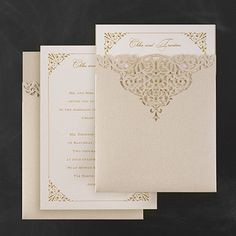 Through the Shimmer Pocket Wedding Invitations with Laser Cut design! http://partyblock.carlsoncraft.com/3124-BSN9577-Through-the-Shimmer--Invitation.pro