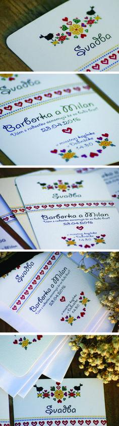 FOLK wedding card - Svadobné oznámenie folklór.