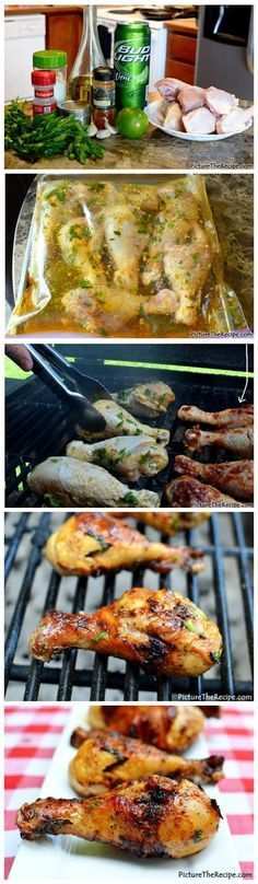 Grilled Beer Marinated Chicken - bring on summer so I can try this!