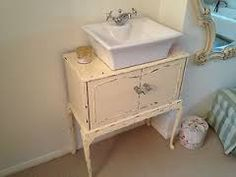 Antique White Shabby Chic French Bathroom Vanity Unit Sink Drawers Ebay Basement Pinterest