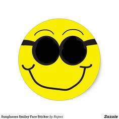 Sunglasses Smiley Face Sticker