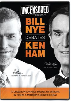 I watched this live! Super educational to help us be more equipped with answers. - Uncensored Science: Bill Nye Debates Ken Ham DVD Answers in Genesis. Excellent debate for the whole family to learn from! Science Guy, Science And Nature, Science Education, Science Resources, Faith Based Movies, 1 Verse, Christian Films, Bill Nye, Christian Resources