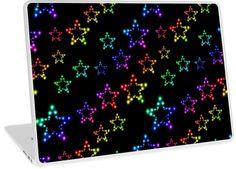Rainbow Stars Glitter Pattern   Design available for PC Laptop, MacBook Air, MacBook Pro, & MacBook Retina