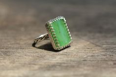 Jade and Silver 925 Handmade ring. by Jenny Walker  sold on etsy
