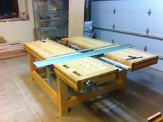 (3) Split Top Roubo MFT with Benchcrafted, Incra and 80/20